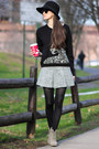 Black-juicy-couture-sweater-heather-gray-united-colors-of-benetton-skirt