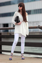 white Zara jeans - ivory Gap jumper