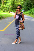 bag - leggings - sunglasses - flats - top - watch