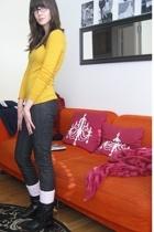 forever 21 shirt - Victoriassecret jeans - Capezio socks - Steve Madden boots -