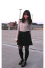 Aldo-boots-pins-needles-sweater-forever-21-shirt