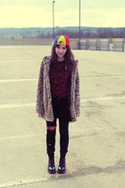doc martens boots - cheetah print Forever 21 jacket