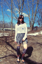 sunset Urban Outfitters tights - grey Urban Outfitters dress