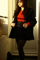 Dahlia coat - Luella sweater - Urban Outfitters skirt - Office shoes - christian