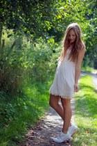 nike sneakers - Zara dress