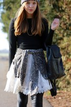 Zara jacket - H&M shirt - vintage bag - Ebay skirt