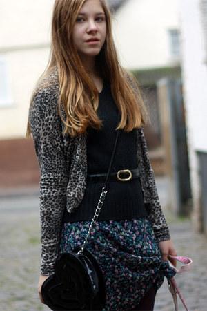 worn as skirt dress - Zara jacket - my moms belt