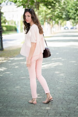 Zara pants - Lefties blouse - Zara sandals