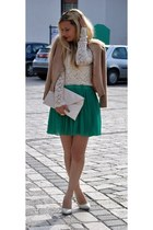 green wholesale-dressnet skirt - gold westrags earrings