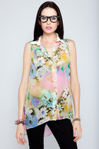 Neon-floral-violet-boutique-shirt