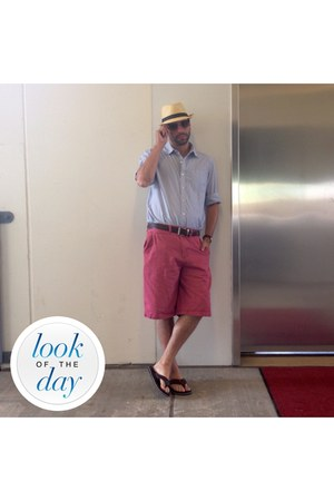 SCALA hat - Levis shoes - calvin klein shirt - beverly hills polo club shorts