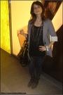 Gray-h-m-leggings-black-vintage-t-shirt-silver-zara-blazer