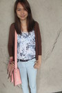Light-blue-skinny-topshop-jeans-light-pink-satchel-studio-boheme-bag