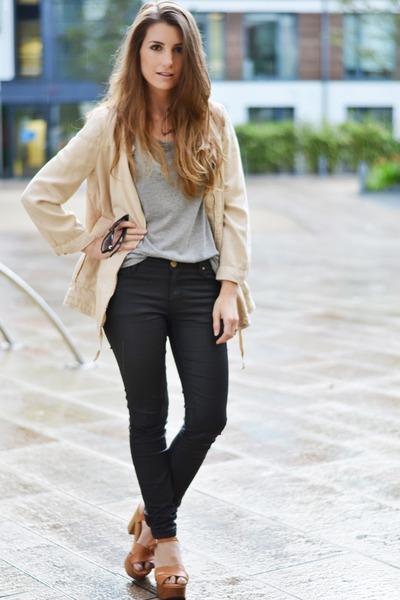 Zara jacket - Zara heels