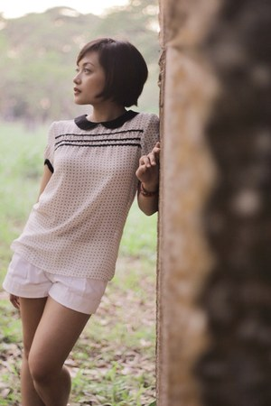 Zara blouse - Haze shorts