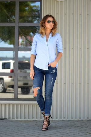 Zara jeans - Gap blouse
