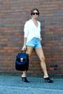 Backpack-forever21-bag-white-forever-21-blouse
