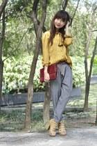 vintage blouse - vintage purse - soiree pants - Parisian heels