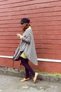 Tan-primadonna-loafers-light-yellow-dress-black-topshop-hat-brown-bag