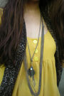 Yellow-tomato-dress-brown-parisian-shoes-brown-thrifted-scarf-random-acces