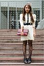 Beige-simones-closet-dress-black-topshop-tights-black-parisian-shoes-red-v