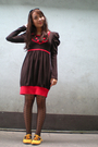 Brown-from-beijing-dress-black-topshop-tights-yellow-maldita-shoes-black-s
