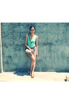 H&M top - Charles and Keith bag - Mango shorts - Charles and Keith sunglasses