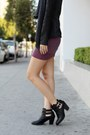 Black-report-boots-magenta-nordstrom-dress