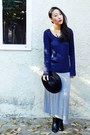navy cable knit abercrombie and fitch sweater - black cut out Report shoes