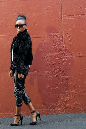 Forever 21 boots - H&M jacket - zeroUV sunglasses - One & Only pants