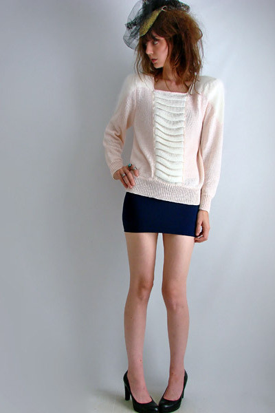 Frosted Pink Jumper - vintage from THE FAMILY sweater