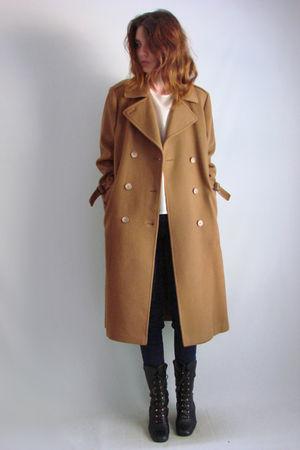 brown 70s80s vintage coat