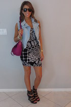 tribal Torn dress - PROENZA SCHOULER bag - Tom Ford sunglasses