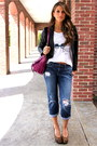 Blue-boyfriend-joes-jeans-black-leather-bebe-blazer