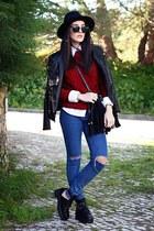 Chicwish boots - JollyChic jeans - Martofchina jacket - BangGood sweater