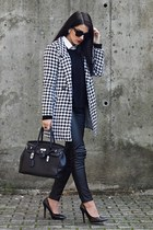 Sheinside coat - BangGood bag - PERSUNMALL pumps - chicnova earrings