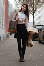 Anna-field-boots-cowboy-shirt-noé-louis-vuitton-bag-black-zara-skirt
