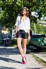 Slake-swarovski-bracelet-brochu-walker-sweater-leather-shorts