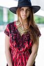 Zara-dress-new-icons-hat-chanel-bag-randa-wedges