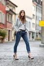 Blue-wildfox-jeans-blue-striped-blackfive-blazer