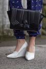 White-zebra-print-zara-blouse-black-h-m-jacket-black-zara-bag