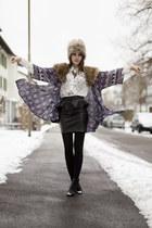 owl pattern Choies shirt - leather Motel Rocks skirt - Jeva Jewels necklace