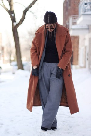 charcoal gray pinstripe Zara jacket - tawny Stylenanda coat
