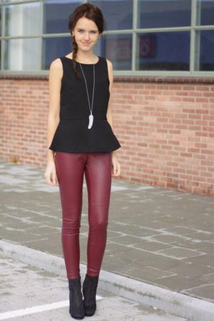 black H&M shoes - black black peplum Promiss top