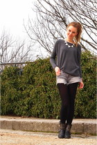 Primark necklace - Alysa boots - New Yorker sweater - H&M shorts