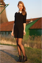 black PERSUNMALL dress - black H&M boots