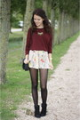 Black-ankle-primark-boots-brick-red-h-m-sweater