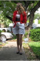 Forever21 jacket - Forever21 shirt - thrifted shorts -  shoes