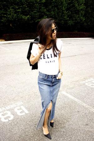 vintage skirt - Celine t-shirt