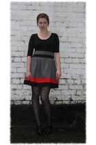 black Primark shirt - Primark skirt - black Miss Selfridge tights - black shoes